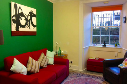 couch and room space in room for hire at direction, Edinburgh.
