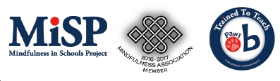 MISP, mindfulness association and paws b logos