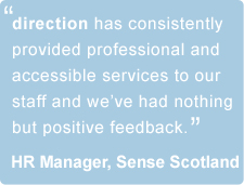 counselling and psychotheraphy testimonial for direction, scotland.