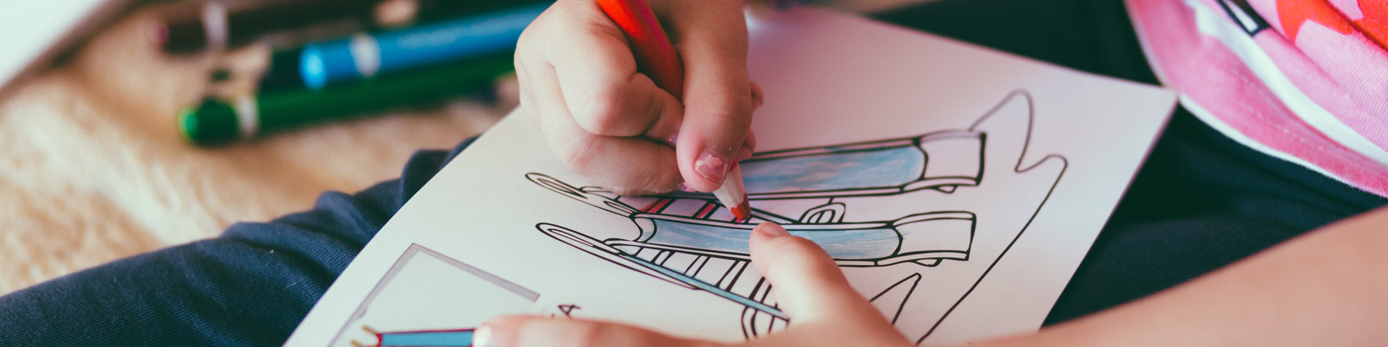 child colouring image of a slide.