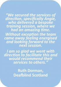 assertiveness workshop testimonial for direction, scotland.