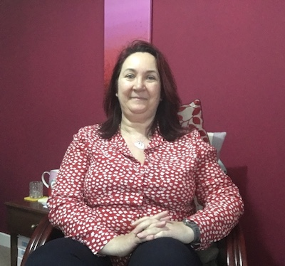 Angie, our Managing Director getting ready for a video call